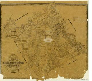 Freestone County Vintage Map